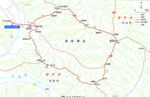 청도 옹강산 (860.1m) 등산코스 (등산지도)