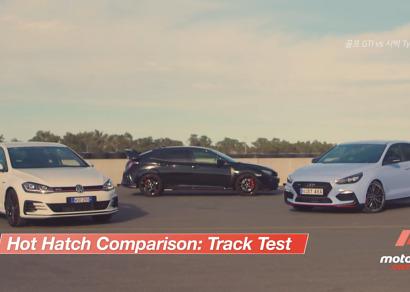 [해외리뷰] i30N vs 골프 GTI vs 시빅 Type-R