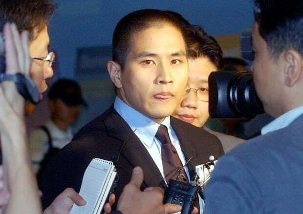 2003년 6월 당시 약혼녀 부친상 조문을 위해 한국을 찾았던 유승준. 연합뉴스