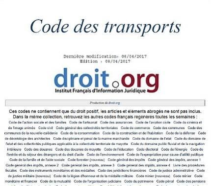▲ 프랑스 교통법.