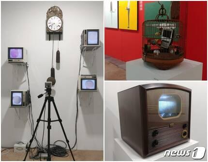 아트부산에 출품된 백남준의 작품들. 2017.6.3/뉴스1 © News1 김아미 기자
