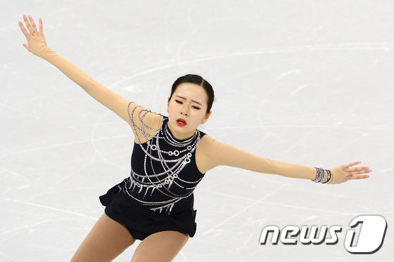 부상 중에도 열연을 펼친 김나현. 2017.2.16/뉴스1 © News1 임세영 기자
