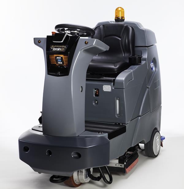 미국의 로봇 두뇌 개발 회사인 브레인코프가 개발한 자율주행 청소 로봇.출처 브레인코프