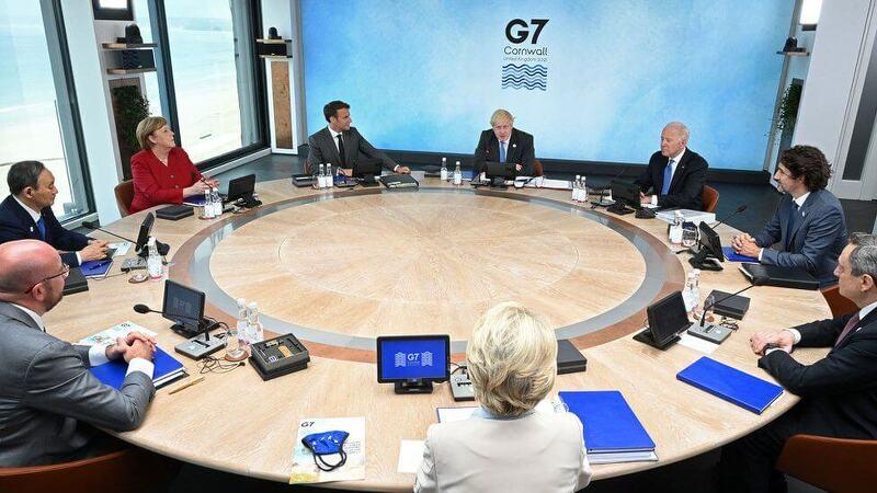 G7 가서 마음에도 없는 말을?