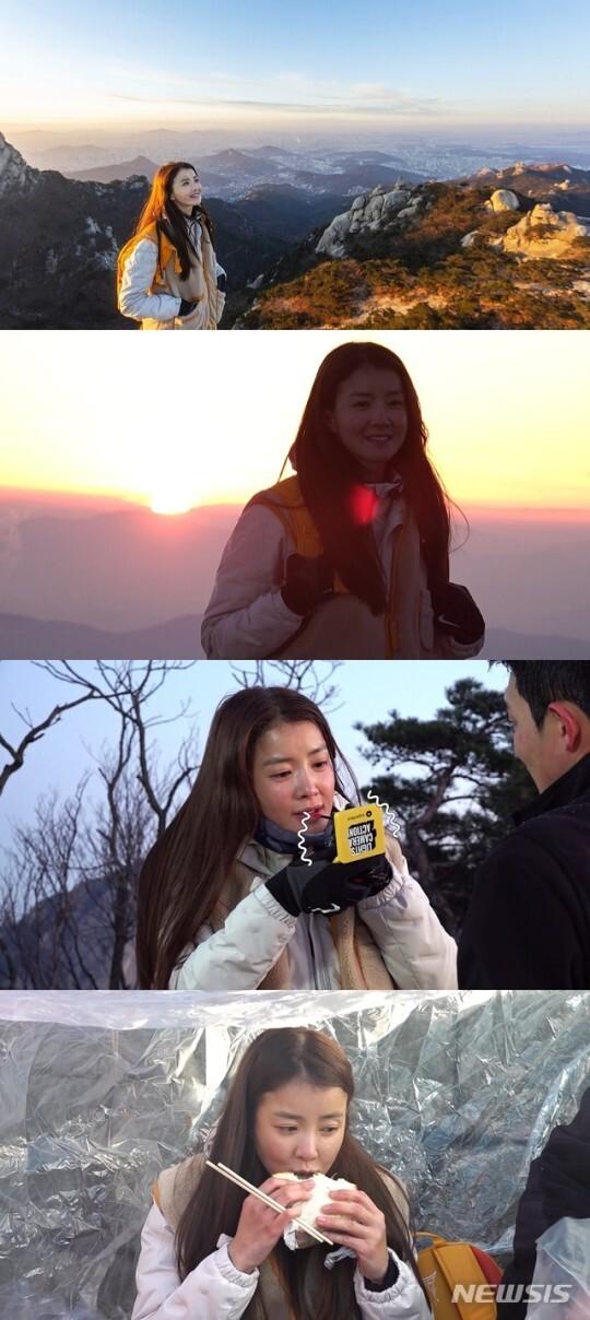 '전참시' 이시영, 연예인 최초 등산 화보 도전…한파에 생고생