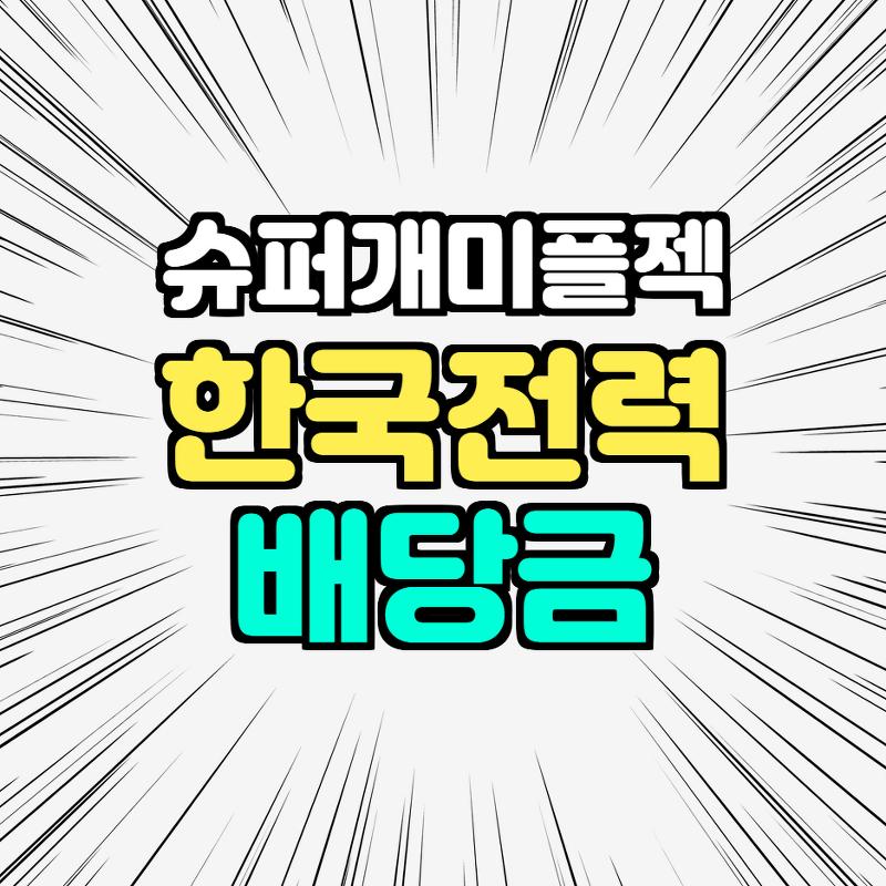 한국전력 배당금 확인