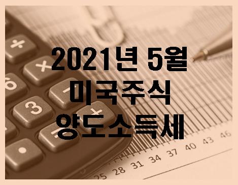 미국주식 양도소득세 기간 가산세 (2021년 5월)