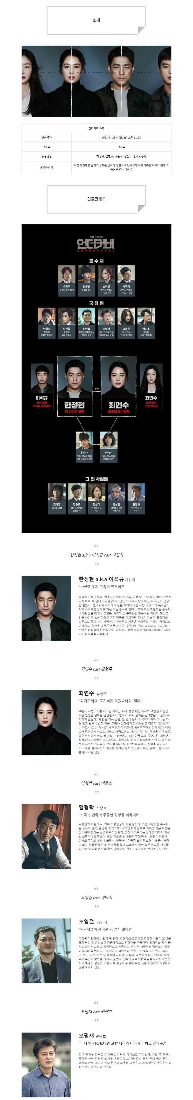 [금토드라마] 언더커버 인물관계도, 몇부작, 정보 소개