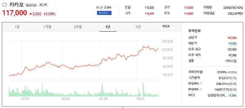 인터넷 대표주 관련주 테마주 대장주 TOP2