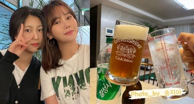"""박연수, 딸 송지아와 치맥 데이트에 """"눈물 찔끔 날 것 같아"""" [SNS컷]"""