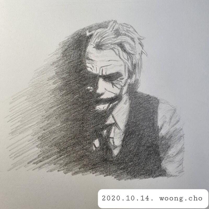 2020.10.14. joker drawing