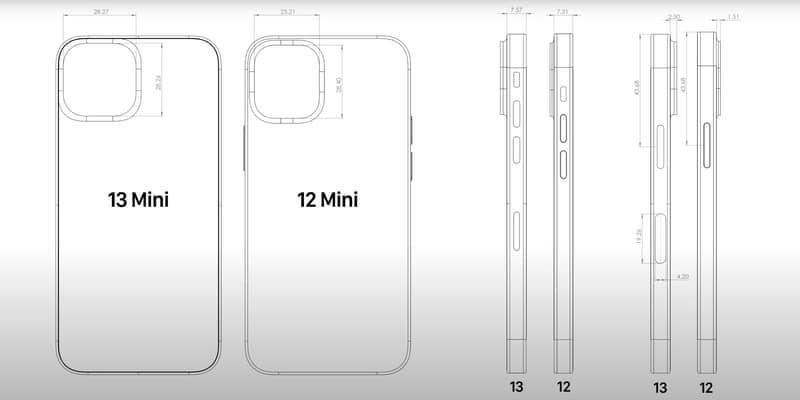아이폰13 (iPhone13) 시리즈 CAD 유출 정보