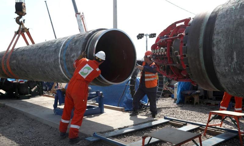 러시아, 미국 반대 불구 독일 연결 '노르트 스트림-2' 가스관 건설 강행 VIDEO: Nord Stream 2 warns of security risks to pipeline from warships, planes