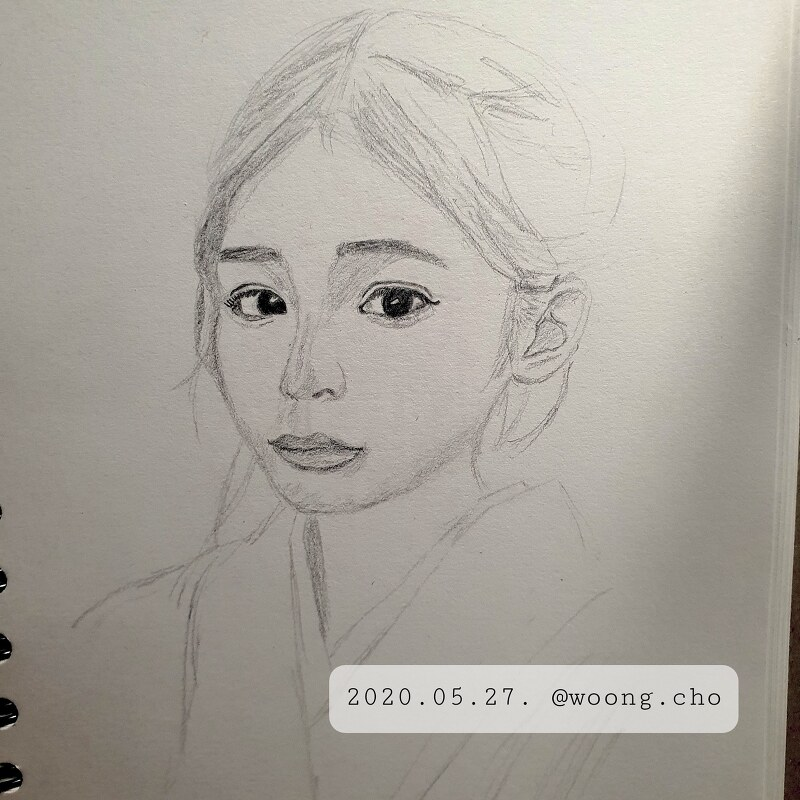 2020.05.27. drawing practice girl woman face
