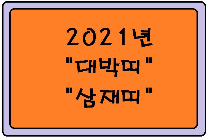 2021년 대박띠 와 삼재띠 알아보기