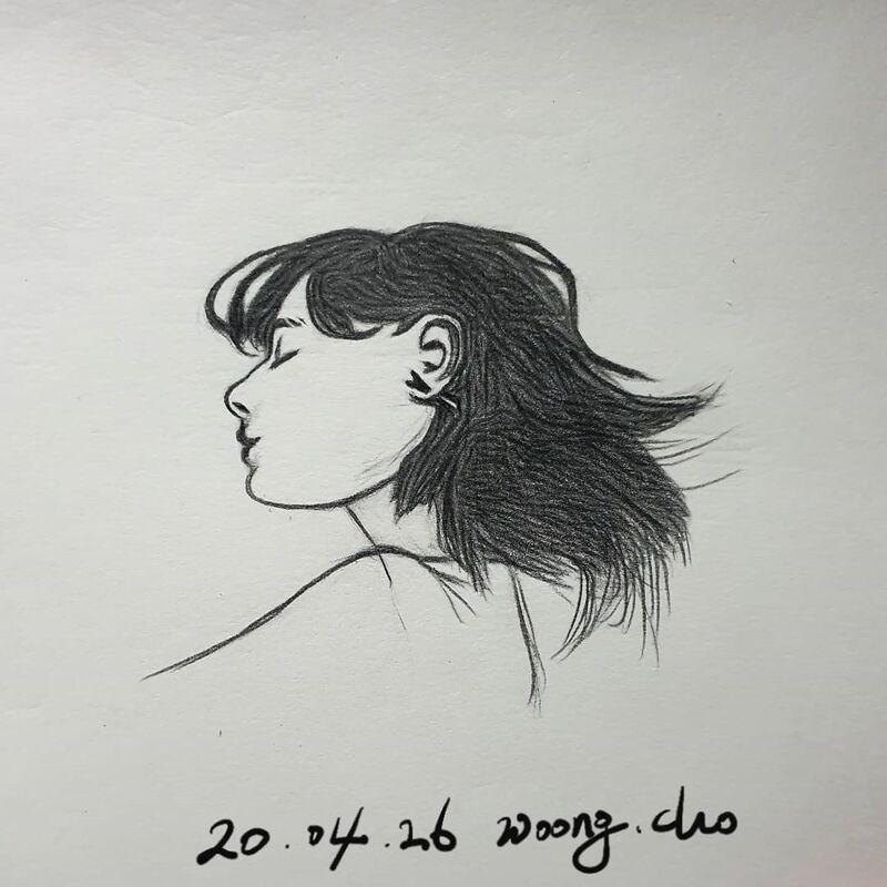 20.04.26. 여성 얼굴 스케치