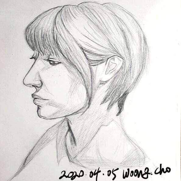 20.04.05. 여자 얼굴 샤프 퀵 드로잉 스케치