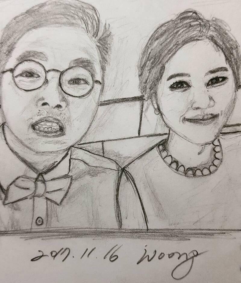 17.11.16. 친구 결혼 축하 드로잉
