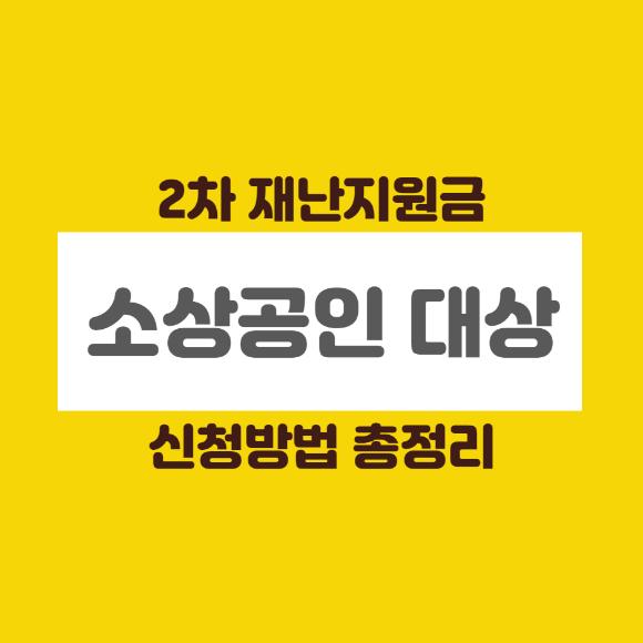 정부대책 소상공인 2차 재난지원금 대상 및 신청방법 총정리