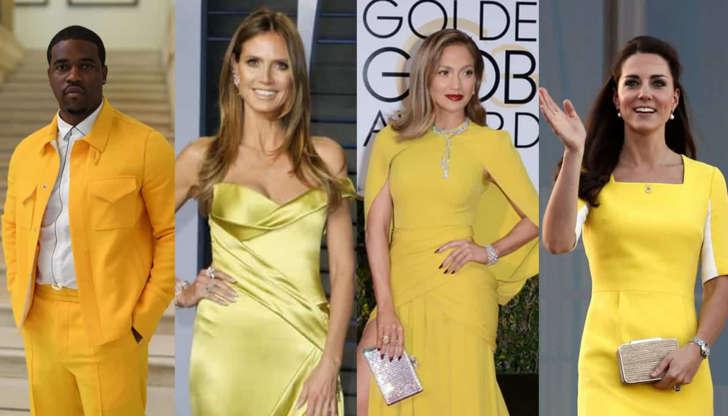 상큼한 노란색을 입은 헐리우드 스타들!!