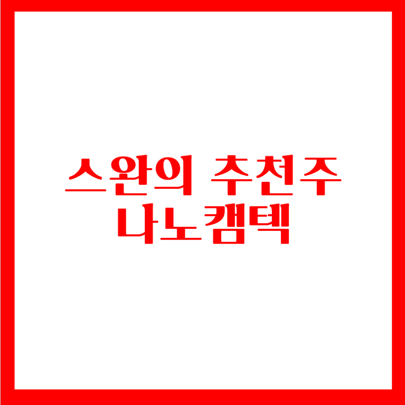 스완의 추천주 - 나노캠텍