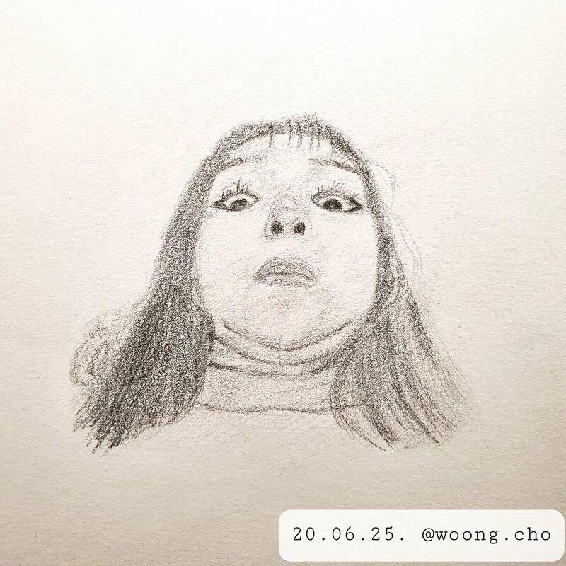 2020.06.25. 바보 표정 퀵 드로잉 데일리