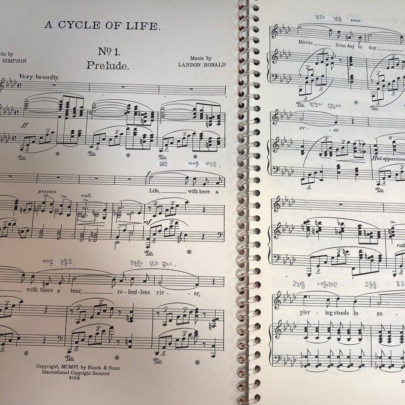 로날드 가곡: A Cycle of Life - 1. Prelude