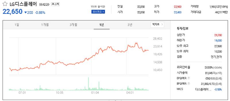 OLED 관련주 테마주 대장주 TOP19