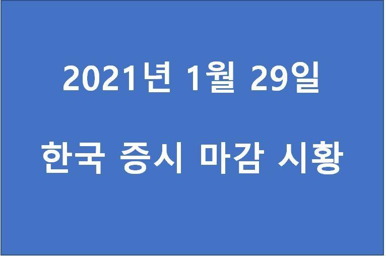 1월 29일 한국 증시 마감 시황(특징주 : 한국가구, LG하우시스, 현대글로비스, 현대차증권, 에쓰오일, 핑거, 수젠텍, 녹십자랩셀, 코오롱생명과학, sk이노베이션) 주가