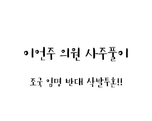 이언주 의원 사주풀이 (조국 임명 반대 삭발투혼!!)