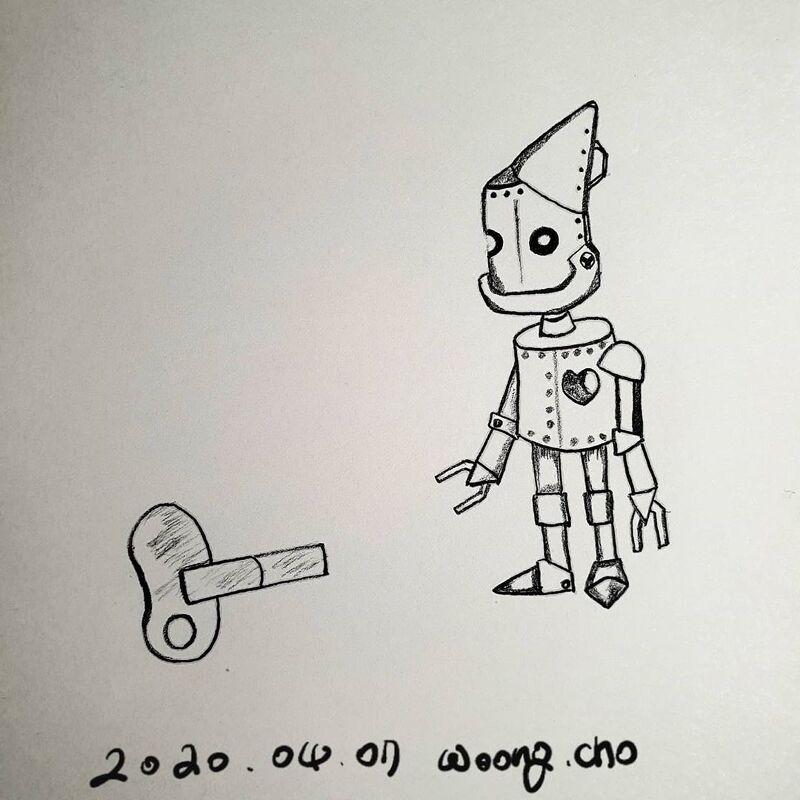 20.04.07. 심장 없는 로봇 일러스트