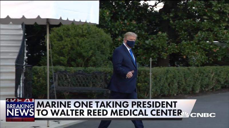 트럼프 대통령, '예방 조치'를 위해 월터 리드 군사 의료 센터로 이동