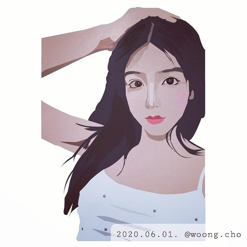2020.06.01. woman face illustration art work