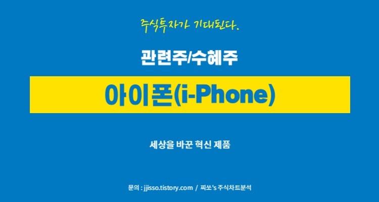 아이폰(i-phone) 관련주 - 수혜주 그리고 대장주는 무엇?