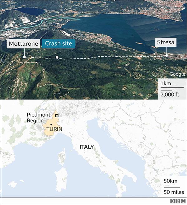 14명 사망 이탈리아 케이블카 사고...5세 아이 아빠가 껴안아 살아남아  VIDEO:Mottarone cable car crash: Italy investigates cause of accident