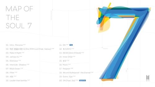 bts 방탄소년단 컴백 정규4집 MAP OF THE SOUL 7 타이틀곡 'ON'