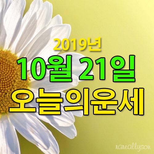 오늘의운세 띠별운세 2019년 10월 21일 오늘운세