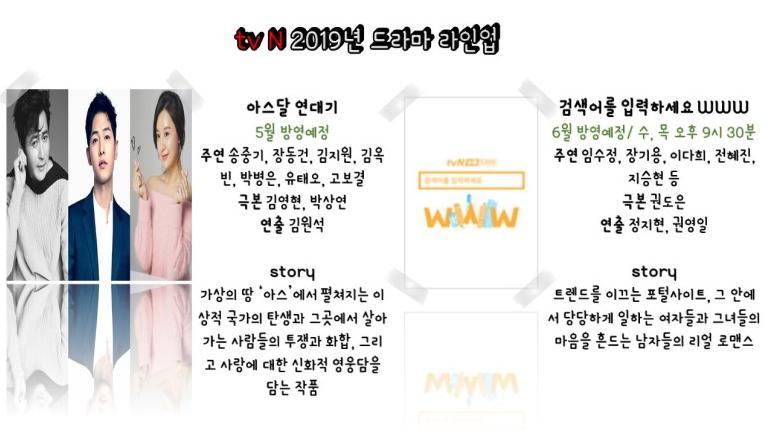 [tvN] 2019년 드라마 하반기 라인업 총정리 (아스달 연대기, 검색어를 입력하세요www) 와~~