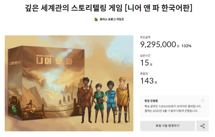 로터스 프로그 게임즈, 니어 앤 파 펀딩시작!