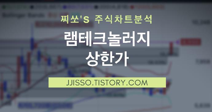 램테크놀러지 주가 상한가 - 불화수소 국산화 성공 납품시작!!