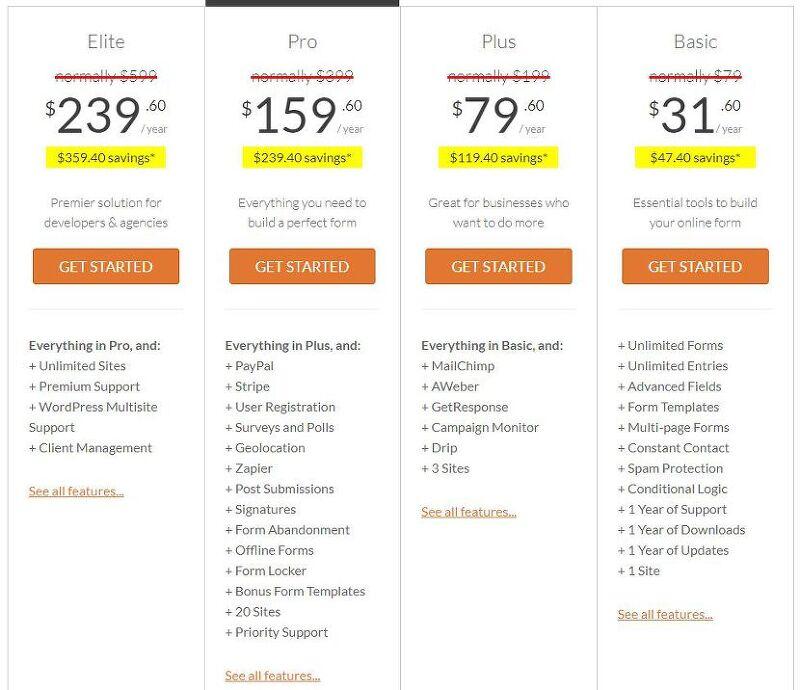 워드프레스 컨택트 폼 플러그인 WPForms 60% 할인 - 블랙프라이데이