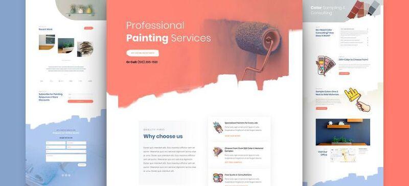 워드프레스 Divi 테마용 무료 페인팅 서비스 레이아웃 팩(Painting Service Layout Pack)