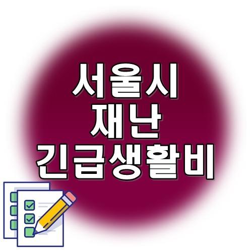 서울시 재난긴급생활비 신청방법 지원대상 서울시 재난소득