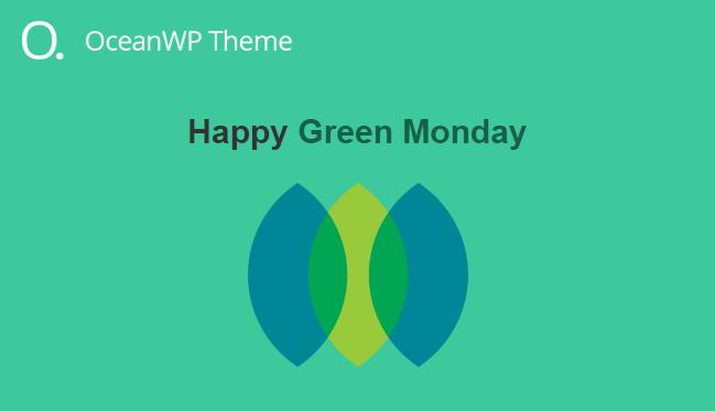 워드프레스 OceanWP 테마 Happy Green Monday 세일