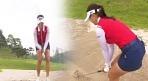 모래 위에서 '퍽퍽'..김하늘 '이색 벙커 훈련'