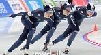스피드스케이팅 여자대표팀, 동계AG 팀추월 은메달
