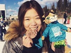 '스노보드' 정유림, 청소년동계올림픽 동메달 획득