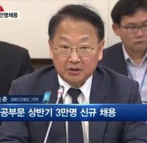 """유일호 """"일자리가 민생""""..상반기 공공부문 3만명 채용"""