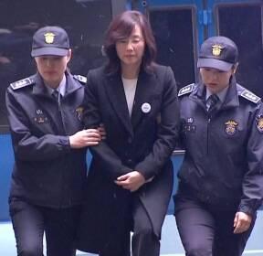 [현장영상] 조윤선, 구속 이후 첫 모습 공개