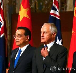 리커창 중국 총리 부부 오스트레일리아 방문